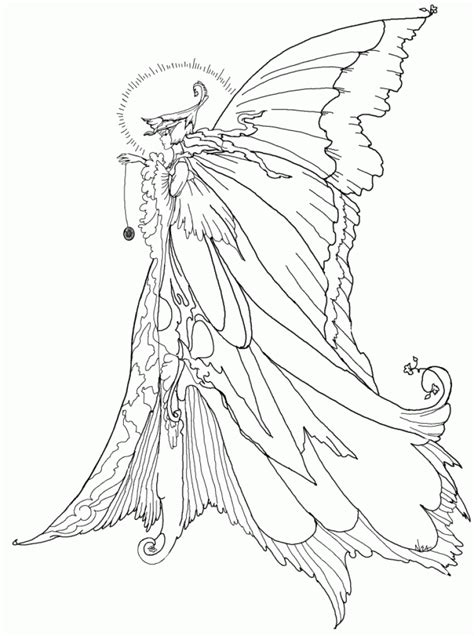 Free Fairy Coloring Pages For Adults printable coloring