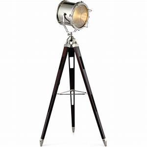 Lampe Sur Pied Industriel : lampadaire noir industriel lampe sur pied reglable triloc ~ Melissatoandfro.com Idées de Décoration