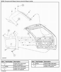 Anybody Have A Diagram Showing How To Remove Rear Door Panel On The 5th Door Of A Ford Edge 2007