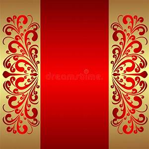 Elegant Red Background With Royal Borders. Stock Vector ...