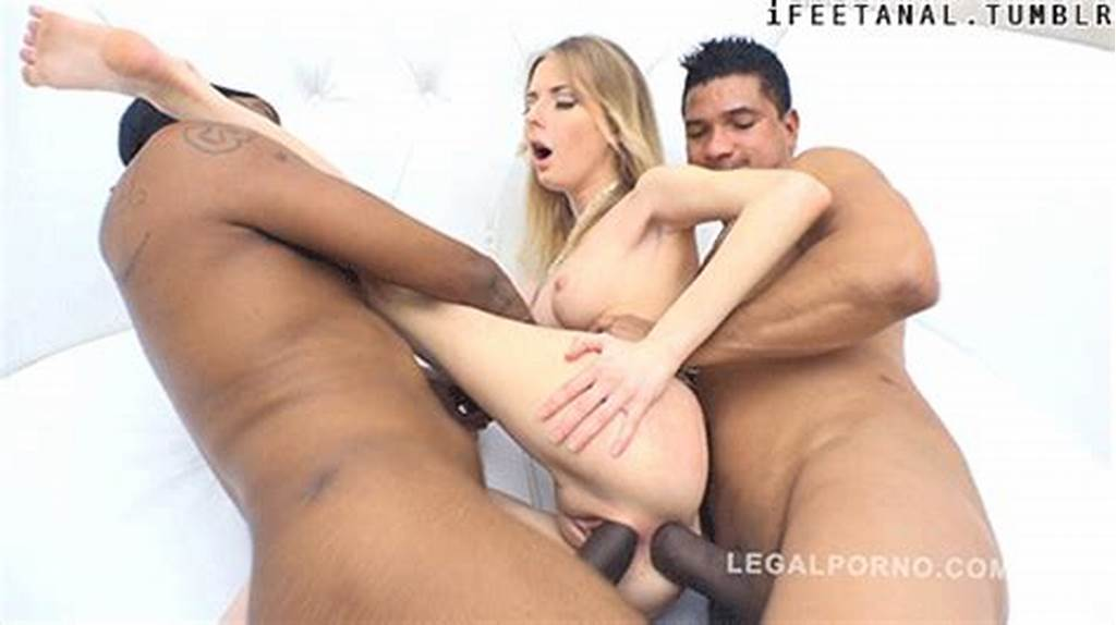 #Slutty #Blonde #Takes #Big #Black #Cocks #In #Her #Shaved #Holes
