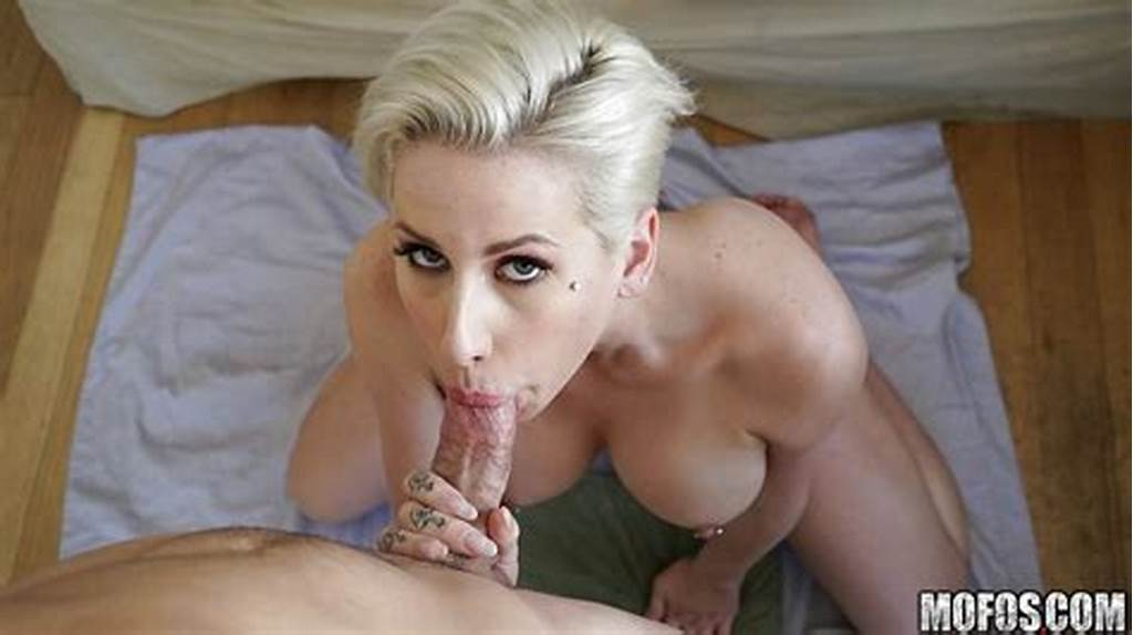 #Short #Haired #Blonde #Chick #Dyla #Phoenix #Drips #Cum #From