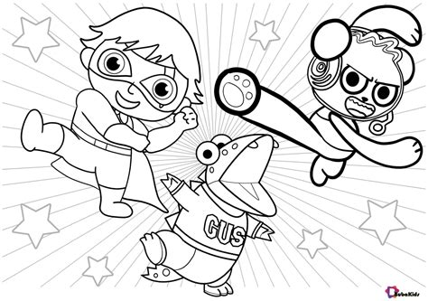 ryan s world printable coloring page Collection of cartoon