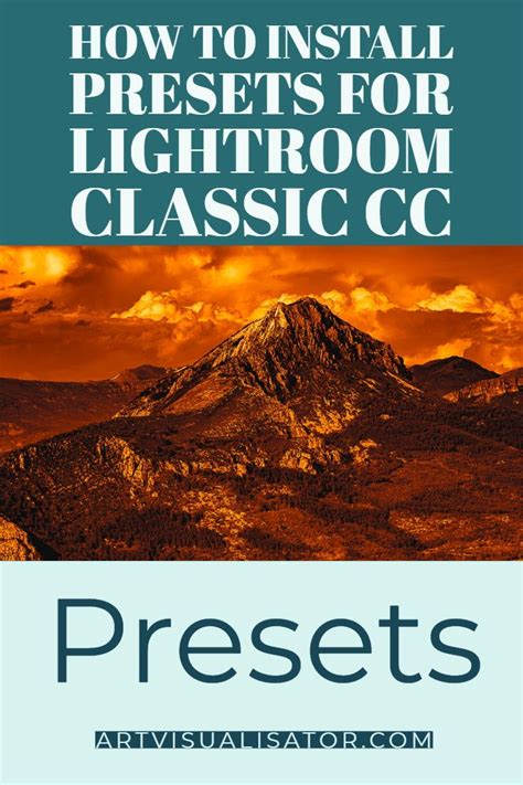 Since lightroom classic cc does not support the.lrtemplate format, it converts all.lrtemplate presets to the latest.xmp format and automatically copies them to the appropriate folder. How to install presets for Lightroom Classic CC for ...