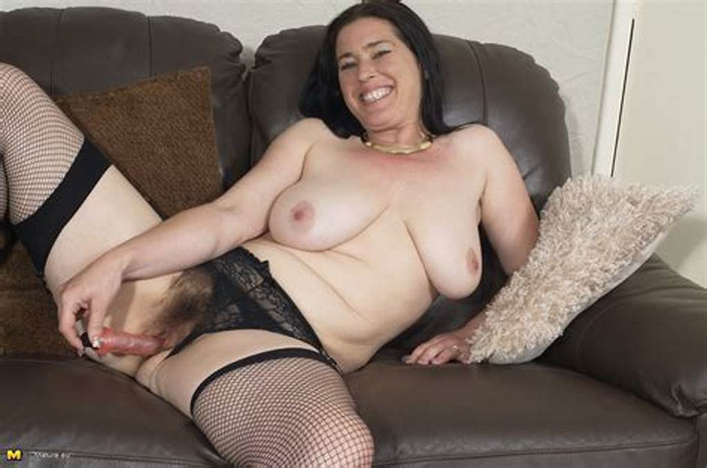 #Hairy #British #Housewife #Playing #With #Her #Toy