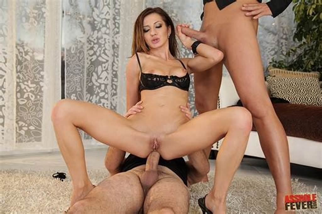 #Alice #Romain #Has #Hard #Sex #With #Two #Horny #Guys