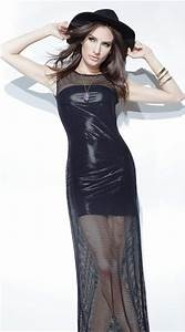 Fishnet And Wet Look Gown  Long Fishnet Gown  Fishnet
