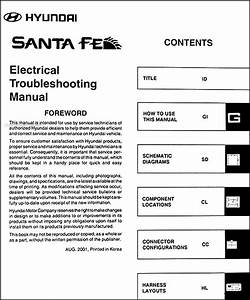 2002 Hyundai Santa Fe Electrical Troubleshooting Manual