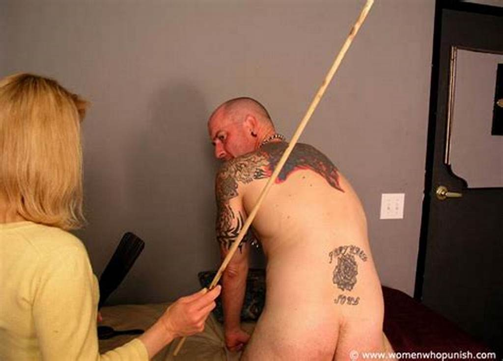 #Nude #Man #With #Inked #Back #Bends #Over #To #Get #His #Ass #Spanked