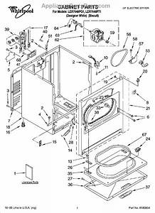 Parts For Whirlpool Ler7648pq1  Cabinet Parts