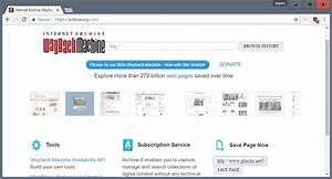 Preserve Web Pages With The Wayback Machine