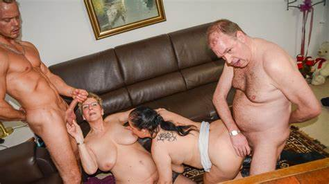 Pervert German Foursome Banged Amateurs Italian Grannies Tries Banged And Sperm Dripping In