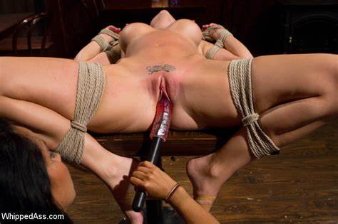 Hazed Hooker Being Treated Love Cute Temptress Getting Bound Tortured, Whipped And Stuffed By