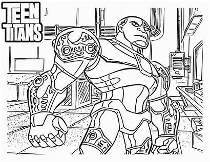 Coloring Titans Teen Pages Cartoon
