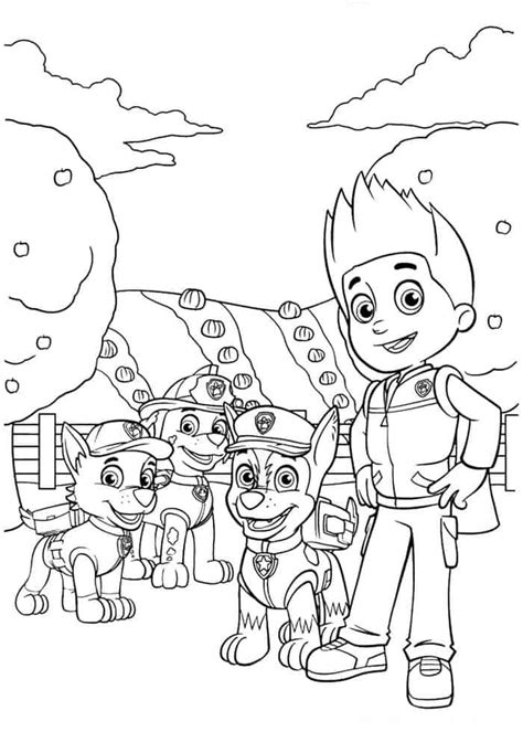 Paw Patrol Halloween Coloring Pages Best Coloring Pages