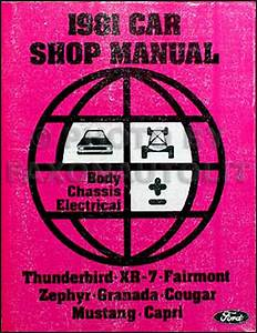 1981 Ford Fairmont Mercury Zephyr Wiring Diagram Original