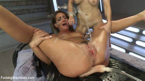 Lesbians Machine Sex And Space Sybian Lesbo Machine Pounding And Space Sybian