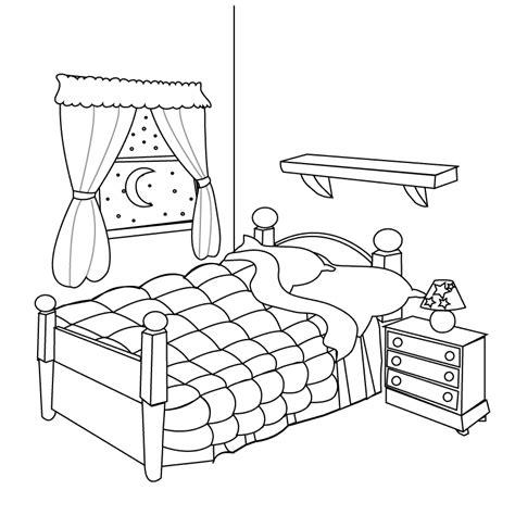 dessin de chambre chambre 1 bâtiments et architecture coloriages à imprimer