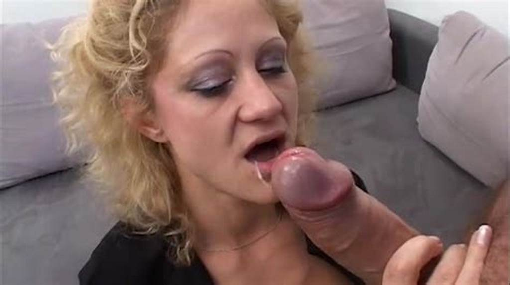 #Curly #Haired #Blonde #In #A #Black #Bra #And #Nylons #Gets #A #Face