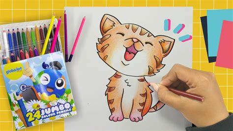 Gambar bintang kucing hitam putih untuk diwarnai gambar. Gampangnya Mewarnai Kucing dengan Pensil Warna [Part. 2 ...