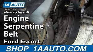 How To Replace Serpentine Belt 97