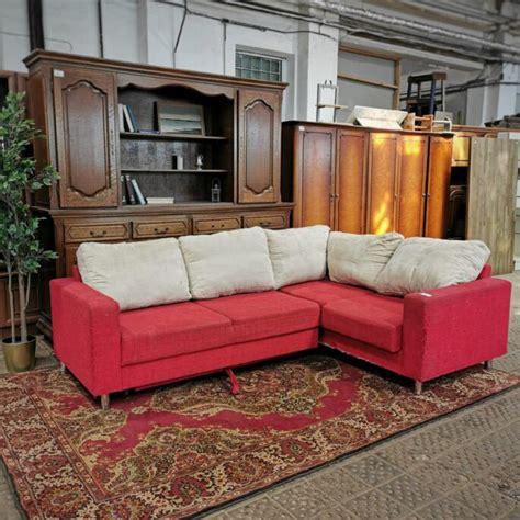 Sarkans stūra dīvāns   Veikals-noliktava Labaspreces.eu