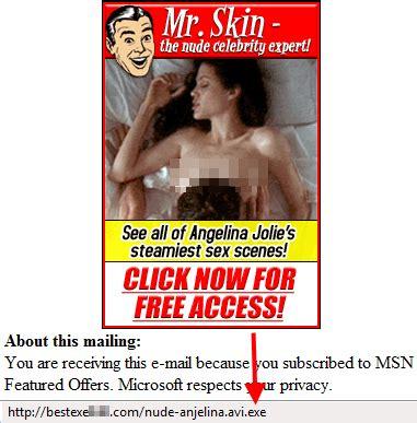foto de Correos falsos de famosas desnudas WeLiveSecurity