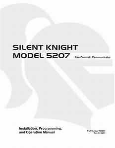 Silent Knight 5207 Wiring Diagram