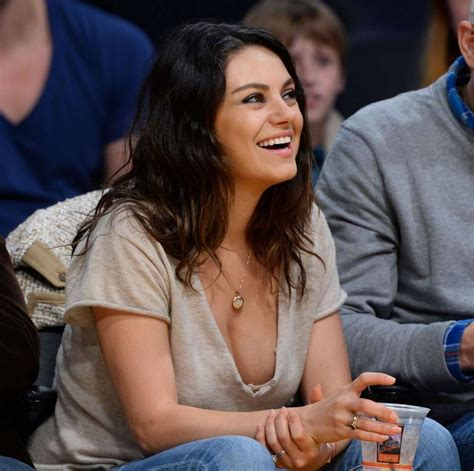 Mila Kunis Courtside At An La Lakers Game Celebzz
