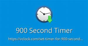 900, Second, Timer, -, Online, Timer