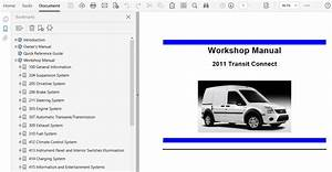 2011 Ford Transit Connect Repair Manual
