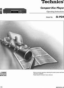 Technics Sl Pg4 Owner S Manual