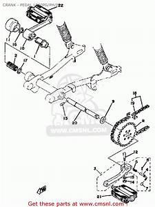 Yamaha Lb50pj Chappy 1980-1982 Crank - Pedal Lb50pg  Ph  Pj - Buy Original Crank  Ph
