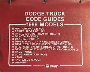1988 Dodge Ram Van  U0026 Wagon Repair Shop Manual Original