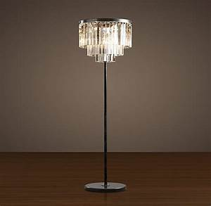 restoration hardware39s 1920s odeon glass fringe floor lamp With restoration hardware floor lamp glass