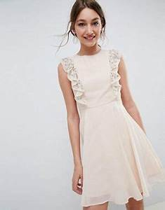 dresses for weddings wedding guest dresses asos With robe patineuse rose poudré