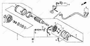 Honda Motorcycle 2000 Oem Parts Diagram For Starter Motor