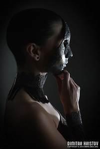 Girl With Full Face Venetian Mask Closeup
