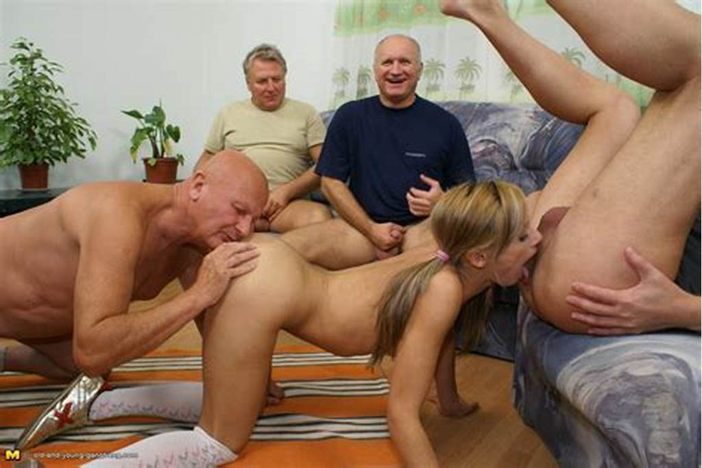 #Old #And #Young #Gangbang #Hot #Teen #Takes #On #A #Garage #Full #Of