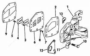 evinrude 1986 6 e6rlcde intake manifold 6 parts catalog With diagram of 1986 e70elcdc evinrude intake manifold diagram and parts