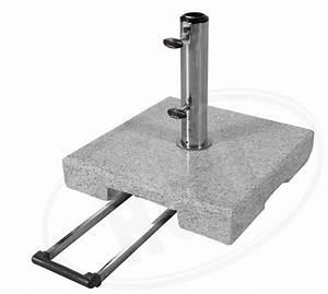 Schirmständer 50 Kg : active 50 kg granit trolley sonnenschirmst nder mit rollen hoedlshop ~ Watch28wear.com Haus und Dekorationen