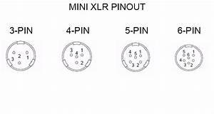 Mini Xlr Connector 4 Pin Mini Xlr Socket