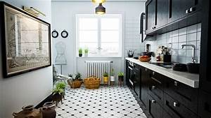 40 beautiful black white kitchen designs With black and white kitchen decor
