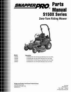 Snapper S150xk0h2348 Users Manual Partsmanual