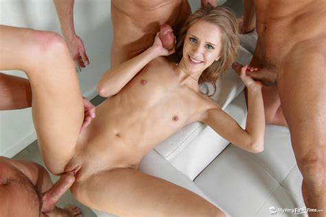 Interracial Orgy For Passionate Teenie Gangbang Wives