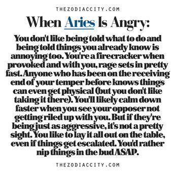 Just Another Random Zodiac Book When Aries Is Angry