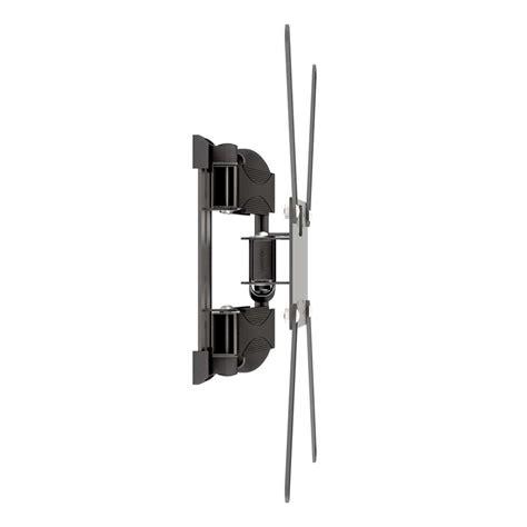 Perfil ultra slim, com distância mínima da parede de 2,9cm. Suporte Articulado de Parede para TV LED ou LCD até 56 Polegadas Preto 24 cm