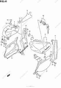 Suzuki Motorcycle 2001 Oem Parts Diagram For Frame Cover