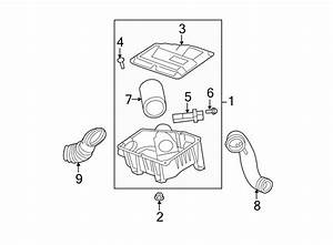 Chevrolet Hhr Air Filter And Housing Assembly  2 0 Liter