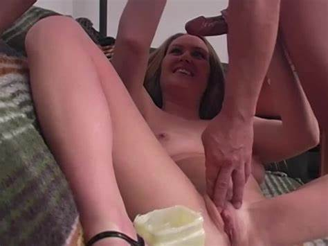 Stroking Dildo On Giant Busty Train Wreck